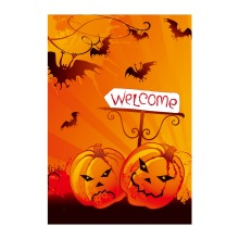 Halloween Welcome Decorative Garden Flags With Pumpkin Designed Double Sided Printing Banner Outdoor & Indoor Flag Home Banners