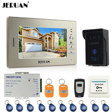 JERUAN 7`` LCD Screen Video Intercom Video Door Phone System 700TVL IR Camera outdoor waterproof FREE SHIPPING