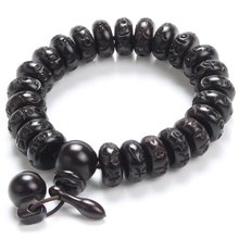 Antique Jewelry Black Jujube Buddha Bracelet Yoga Wooden Beads Mala Charm Beads Bracelets For Men Women Jewelry Pulseras Hombre