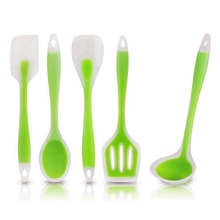 WALFOS newest Heat-Resistant Cooking Utensil Set Non-Stick Silicone kitchen utensil set high quality silicone utensil set