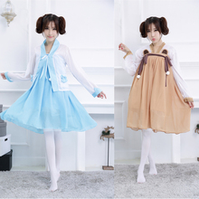 2017 Vintage Kimono Cosplay Costume Japanese Anime Maid Dress Fancy Lolita Dress For Halloween Party Chinese Hanfu Style