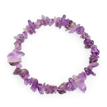 YYW Natural Real Rose Purple Crystal Stone Quartz Sea Opal Moonstone Stone Chips Beads Elastic Bracelets Real Stone Bracelets(China)