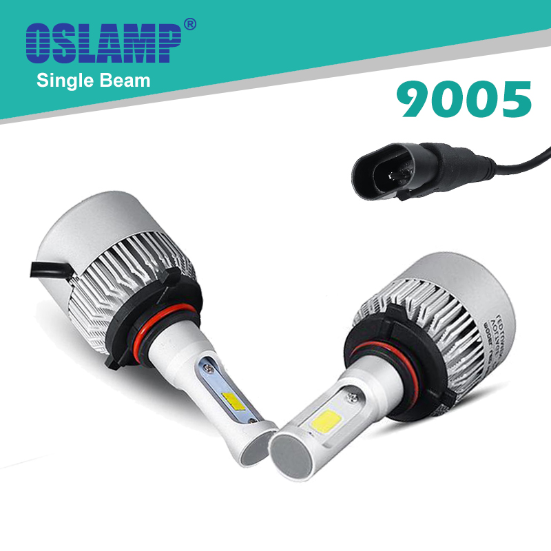 Oslamp COB Chips/CSP Chips 9005/HB3 Car LED Headlight Kit Auto Headlight LED Car Bulbs SUV 6500K with Cooling Fan S2 &amp; S3 Series<br><br>Aliexpress