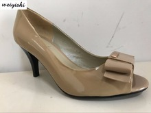 new fashion patent leather high heel shoes(China)