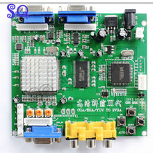2016 NEW Arcade Game RGB/CGA/EGA/YUV to VGA HD Video Converter Board HD9800/GBS8200 Hot green board