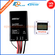 solar controller for 12v 195w 24v 390w solar panel system use MPPT free shipping Tracer3906BP+MT50 remote meter 15A 15amp
