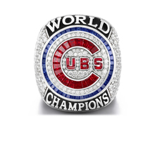Drop Shipping 2016 Official Version Chicago Cubs Baseball Solid Championship Ring Size 6-15