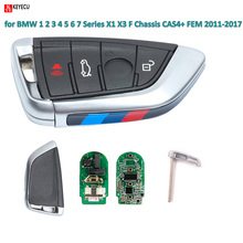 KEYECU YH Black Smart Remote key Fob 315MHz/ 433Mhz for BMW 1 2 3 4 5 6 7 Series X1 X3 F Chassis CAS4+ FEM 2011-2017 Years(China)