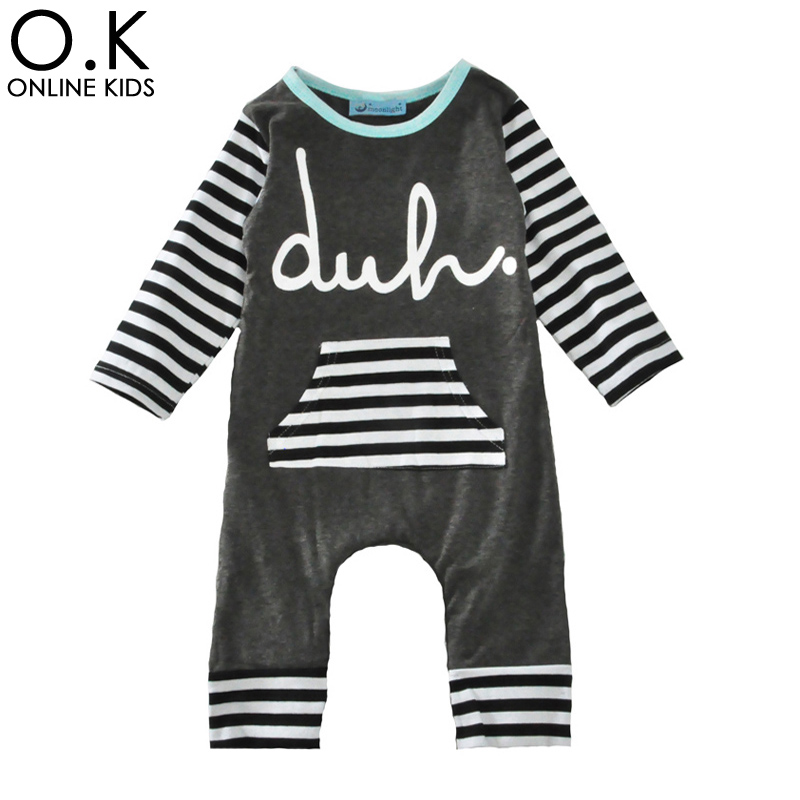 Baby Boy Rompers One-piece 2017 Christmas Boys Clothes Autumn Fashion Stripe Long Sleeve Jumpsuit Letter Girl Romper Clothes<br><br>Aliexpress