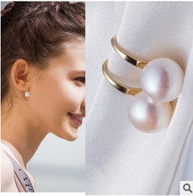 ED406 2018 new fashion Bohemian national wind Imitation pearl earrings hang popularity Wholesalers(China)