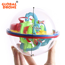 GLOBAL DRONE 100 Levels Intellect  3D Magic Maze Ball Rolling Ball Puzzle Game Brain Teaser Children Learning Educational Toys