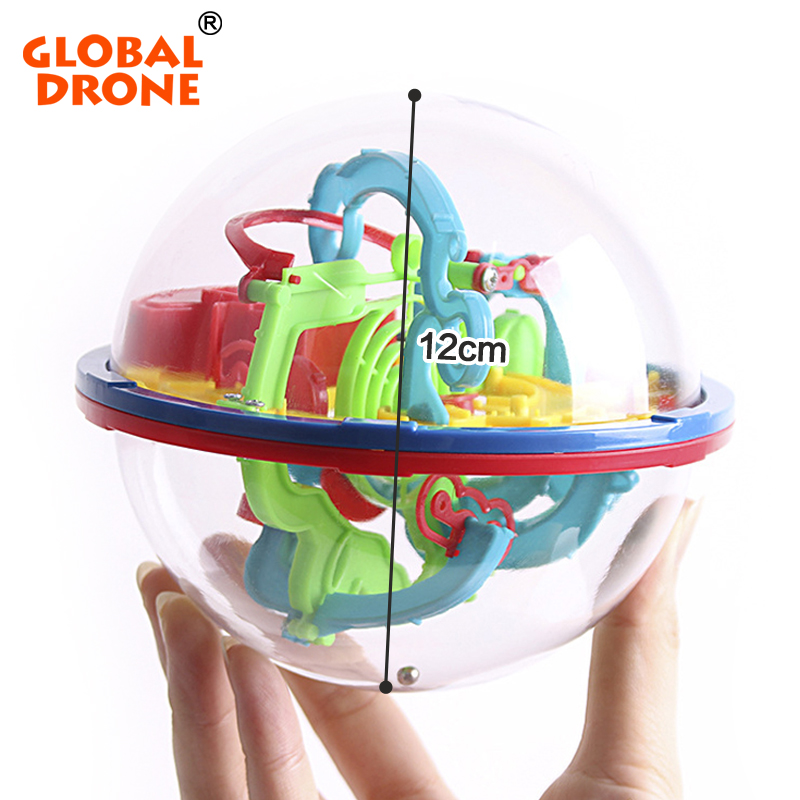 GLOBAL DRONE 100 Levels Intellect 3D Magic Maze Ball Rolling Ball Puzzle Game Brain Teaser Children Learning Educational Toys(China (Mainland))