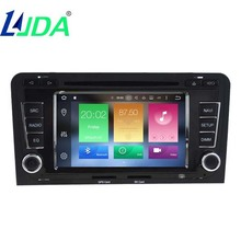 LJDA 2din 7inch Android 6.0 Car DVD Player for Audi A3/S3(2003-2013) Car Radio/TPMS/OBD2/4G/DAB+/Free Maps/ GPS Navi/IPOD/BT/DVR(China)
