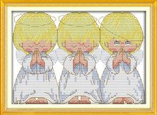 The pray little angels cross stitch kits baby kid 18ct 14ct 11ct counted print cotton thread embroidery DIY handmade needlework(China)
