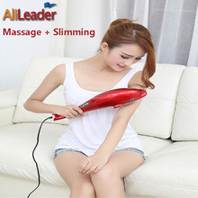 2017 New Infrared Massage And Slimming Machine Antiskid Hand Handle Dolphin Massage Hammer Body Foot Back Neck Massager Electric