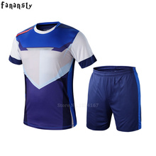 Top quality personalized custom football jerseys men set breathable youth soccer jerseys survetement football uniforms men(China)