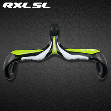 Buy Road Bicycle Carbon Handlebar Bike Carbon Handlebars Integrated Handlebar Stem RXL SL Green Bicycle Parts 3k Glossy Green for $45.90 in AliExpress store