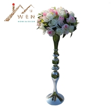 3 Color 73cm height metal candle holder candle stand wedding centerpiece event road lead flower rack 10 pcs/ lot