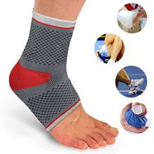 Sport Ankle Protection Breathable Elastic Half Foot Socks Padded Ankle Support Brace Football Basketball Ankle Protectors z40(China)
