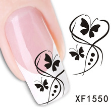 2017 New Nails Manicure 2 Sheet Manufacturers Accusing Nail Stickers Smooth Water Xf Models Of Domestic And Foreign Air Xf1550(China)