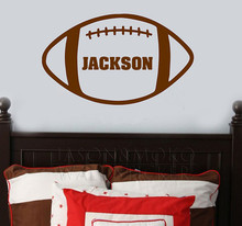 American  Football Sports Personalized  Name wall sticker for boys room Decoration