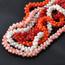 Round Natural Coral Beads For Jewelry Diy making 1 Strand about 30cm TRS0048