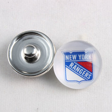 Sport jewelry NY Rangers snap charm jewelry NHL team fit for snap bracelet(China)