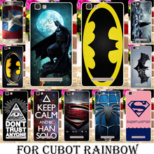 soft tpu Silicone Cases For Cubot Rainbow 5.0 Inch  Cases Batman Captain America Logo Bag Covers Housing Gel Phone Bags shell