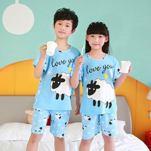 Low Price Palace lovely style Children Pajama Sets Summer Cotton Kids Pijamas Set 3-14Y Sleepwear Girls Pyjamas Kids Clothing