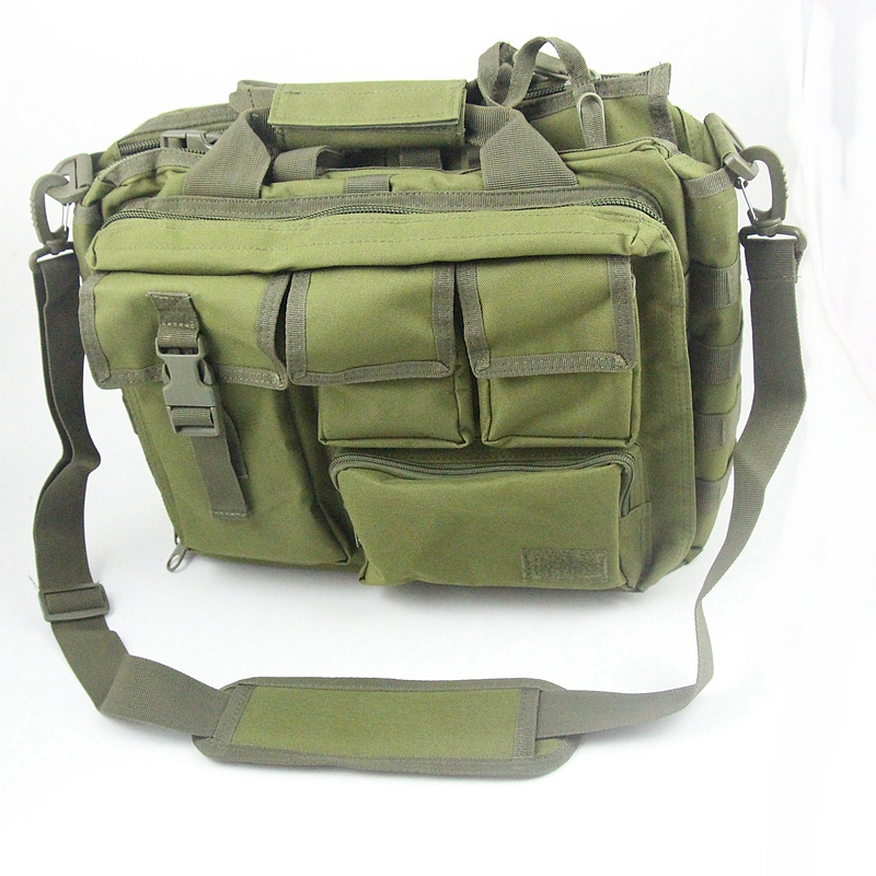 Molle  Shoulder Strap Bag Pouch Travel Pack Laptop Military Bag Army Green   Bags<br>
