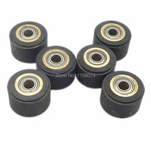 6x Copper Core Pinch Roller 4x11x16mm Hole Diameter 4mm For Roland Vinyl Plotter Cutter Cutting Engraving Machine Printer Parts