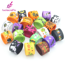 Lucia Crafts 25mm Halloween Pattern Grosgrain Ribbons DIY Art Handmade Materials Ribbon 12yards/lot(Randomly mixed) 040054044(China)