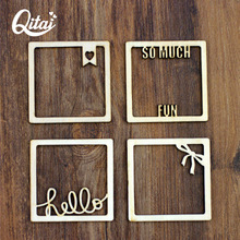 QITAI 48 Pieces/set Primary Wood Frame Pastoral Creative Fashion Vintage Photo Frame Wall Hangings Home Decoration Gift  Wf056