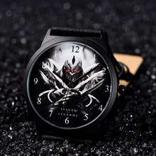 B-9034 BAOSAILI Brand Aliexpress Best Seller Wholesale Genuine Leather Watches Wrist Watch for Men Game Character Watches Men(China)
