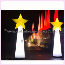 16 colors changing LED inflatable cone with star inflatable pillar for street advertising and party events