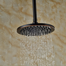 "Wholesale And Retail Ceiling Mounted 8"" Rain Shower Head Oil Rubbed Bronze Brass + Brass Shower Arm 10"""