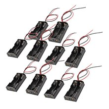 MAHA Hot Wired 2 x 1.5V AA Battery Holder Plastic Case Storage Box 10 Pcs Black