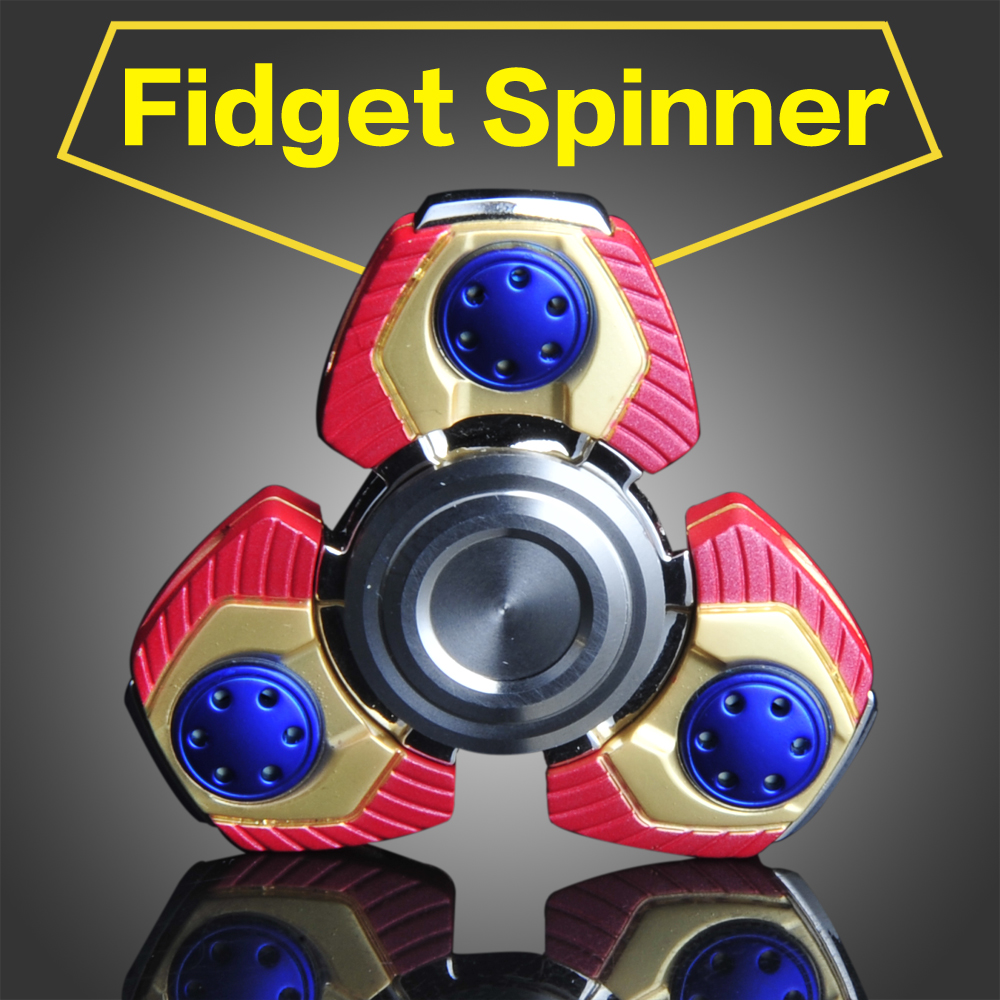CKF Metal Tri-Spinner Toy Fidget Stainless steel EDC Hand Spinner Rotation Time Long Anti Stress Toys Child Gift,Action