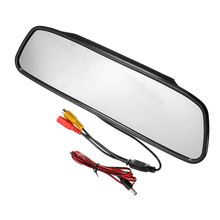 4.3 inch digital HD video lcd car mirror monitor small display for  vehicle reversing parking backup rear view camera sale