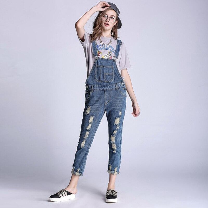 3XL 4XL 5XL Korea new plus size women loose jeans and cotton trousers jeans Bib strap Woman Cute jeansОдежда и ак�е��уары<br><br><br>Aliexpress
