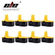 ELEOPTION 8PCS 18V 2000mAh Ni-CD Rechargeable Power Tool Battery for DEWALT DW960 DW934 DW908 DW059 DC759 DC390 18 Volt(China)