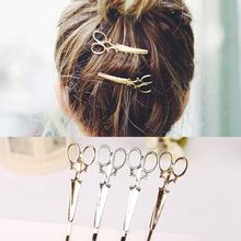 Scissors Pattern Hair Pin Individuality Hair Clips Headpiece Punk Apparel Accessories Hair Jewelry Barrettes Cabelo(China)