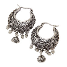 Retro Antique Tibet Silver Color Vine Hollow Filigree Vintage Earrings For Women Girls Wholesale 2015 NEW Arrival Jewelry