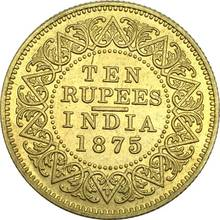 New Products East British India Gold Coin Victoria Queen 1875 Ten Rupees Brass Metal Copy Coins Can Choose The Different Years(China)