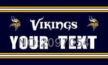 Flag Minnesota Vikings  Custom Your Text Flag 3ft x 5ft Polyester NFL Team Banner Flying Size No.4