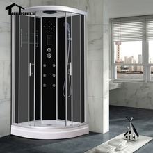 Free shipping 90cm White BLACK NO Steam Shower massage Corner Cabin room Cabin hydro cubicle Enclosure glass walking-in saunaD09
