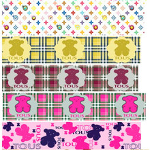 pick color size 16 25 38 50 75 mm width Bear  Printed polyester Grosgrain Ribbon or Satin Ribbon BR01