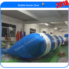 Free shipping & 0.9mm PVC Tarpaulin 8m*3m inflatable water pillow,jump bag, air bag jump(Free pump+ repair kits)(China)