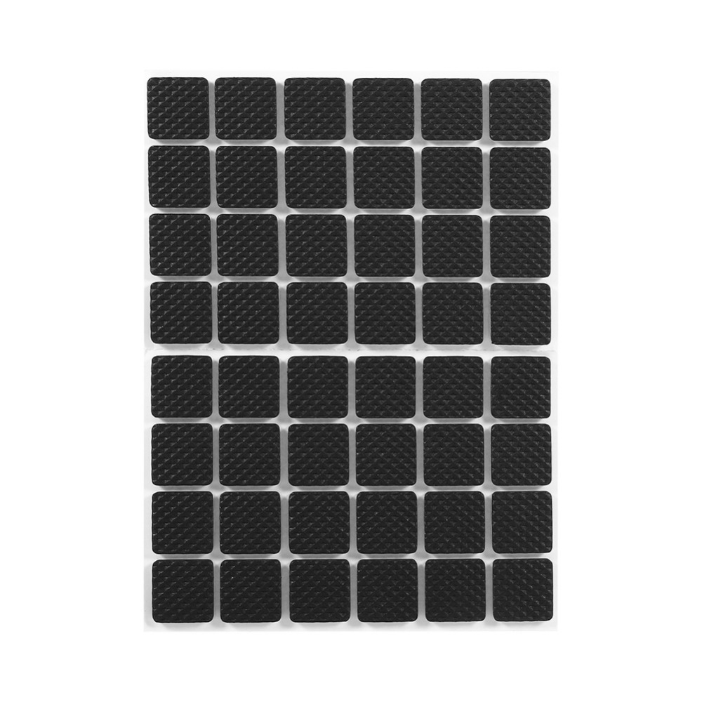 48Pcs Black Non-slip Self Adhesive Floor Protectors Furniture Sofa Table Chair Rubber Feet Pads to Protect Tables Leg Square(China (Mainland))