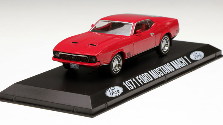 Rare Model GreenLight 1:43 1971 Mustang Mach 1 Alloy car models Favorites Model(China (Mainland))